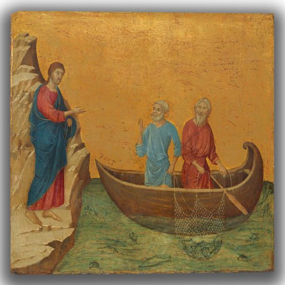 Buoninsegna, Duccio di: The Calling of the Apostles Peter and Andrew. Fine Art Canvas (004161)